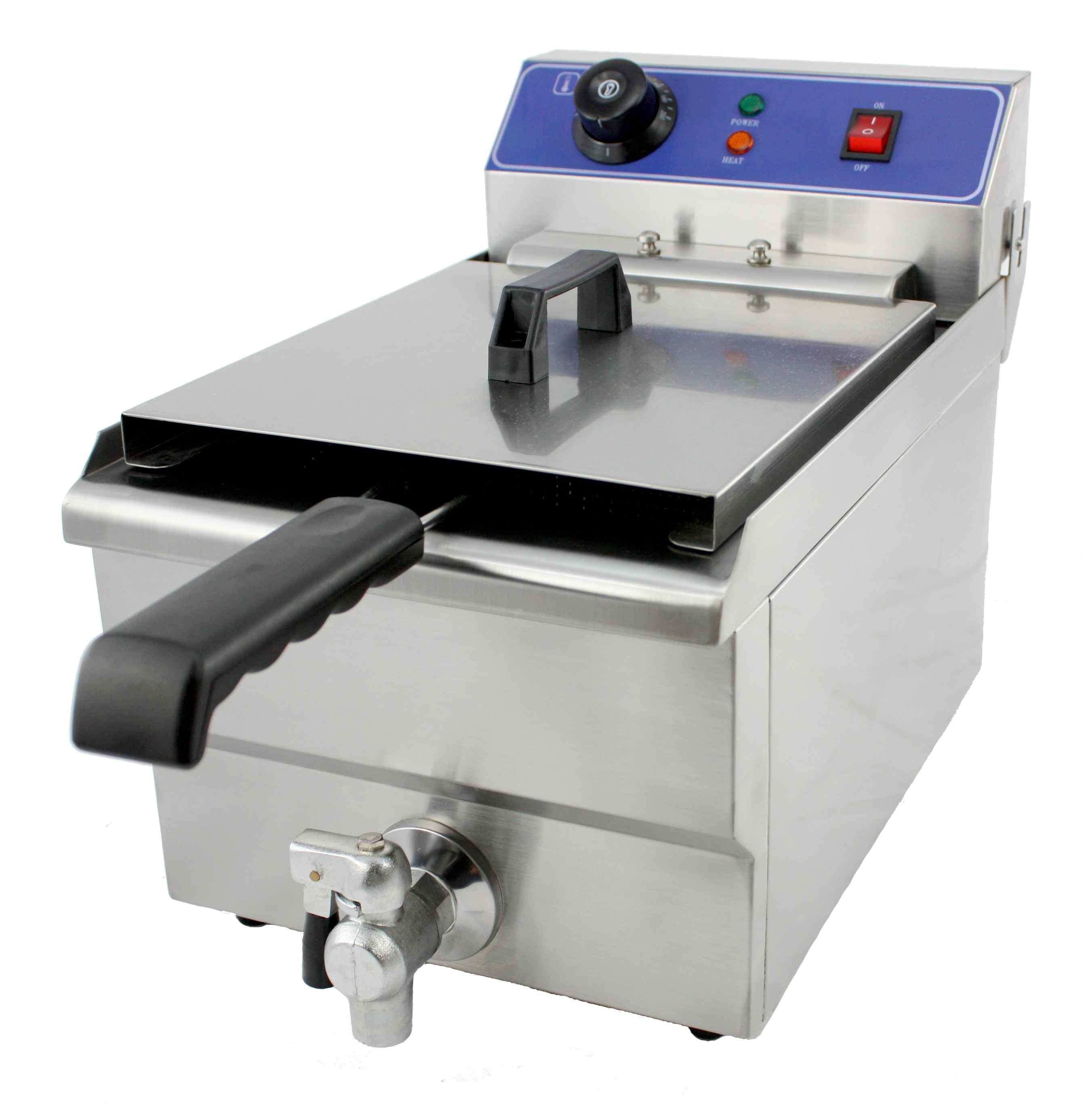 Elektro-Friteuse als Tischgerät mit 9,8 Litern Inhalt